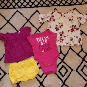 0-3 month Old Navy Baby Girl Lot of 4